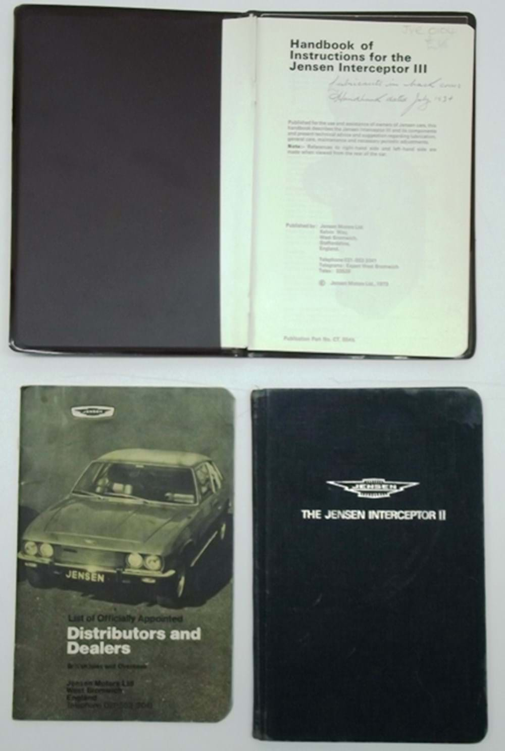 Lot 116 - Jensen hand-book