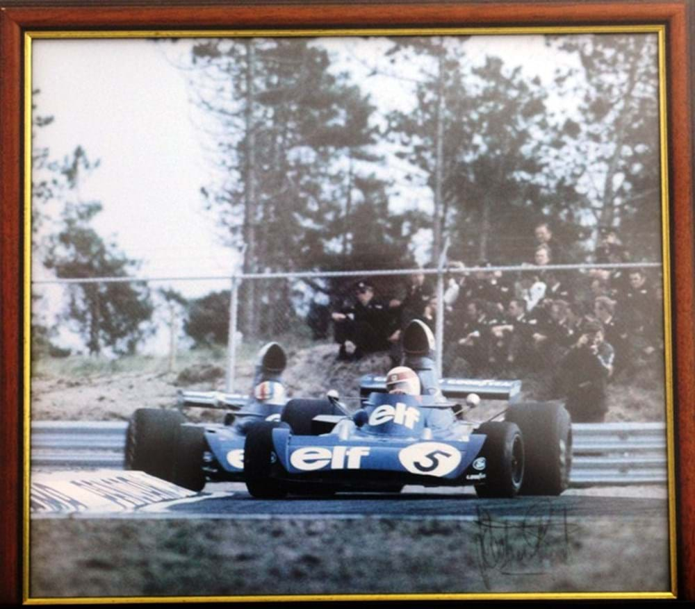 Lot 22 - A signed Jackie Stewart print