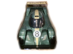 Navigate to A display model of the 2001 Le Mans Bentley Speed 8
