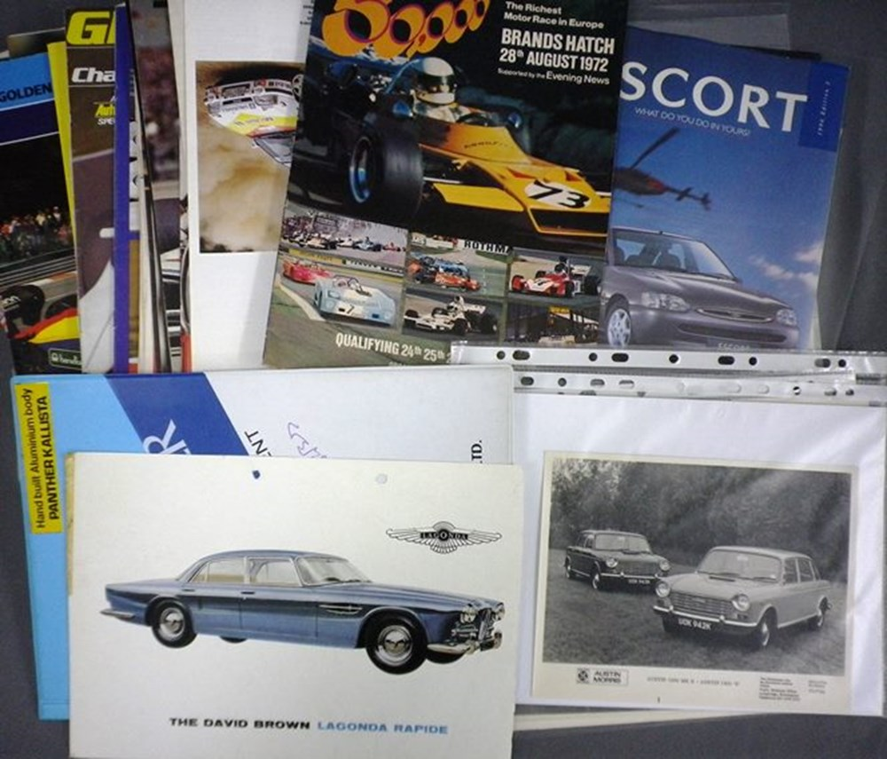 Lot 8 - Car brochures and catalogues.