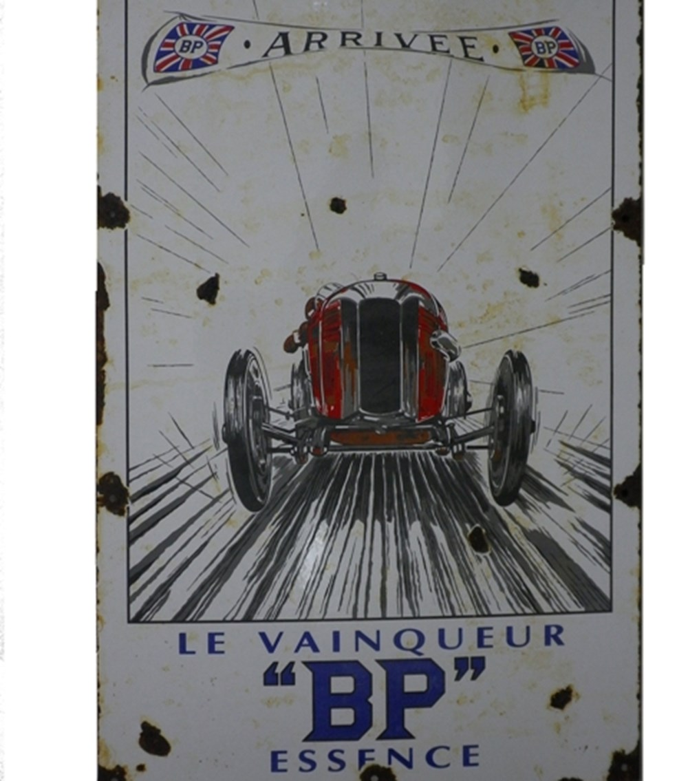 Lot 072 - BP enamel sign
