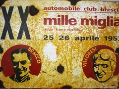 Navigate to Mille Miglia sign.