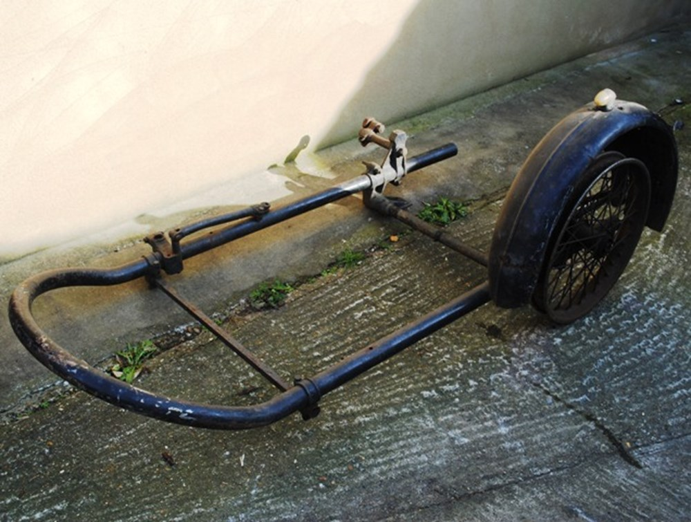 Lot 62 - Sidecar  chassis wheel & frame