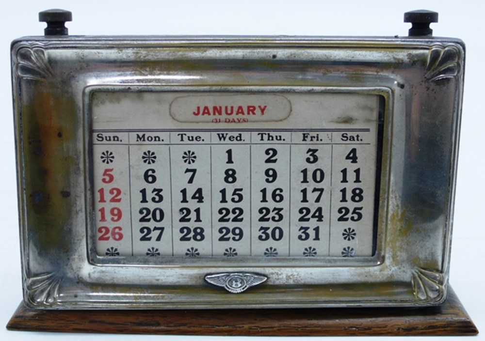 Lot 061 - Bentley desk calendar