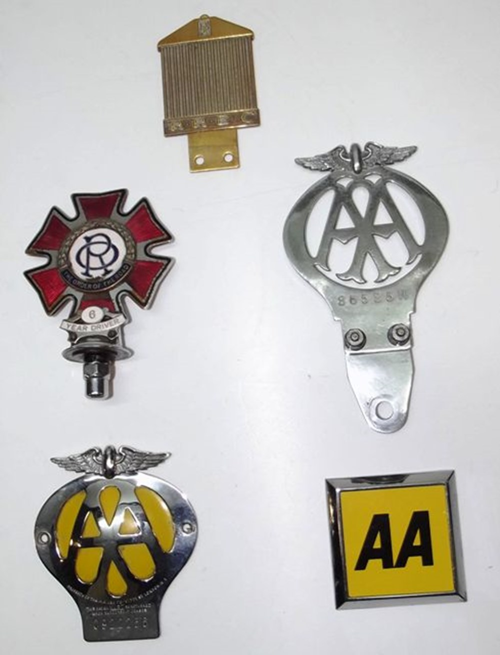 Lot 022 - Three AA badges