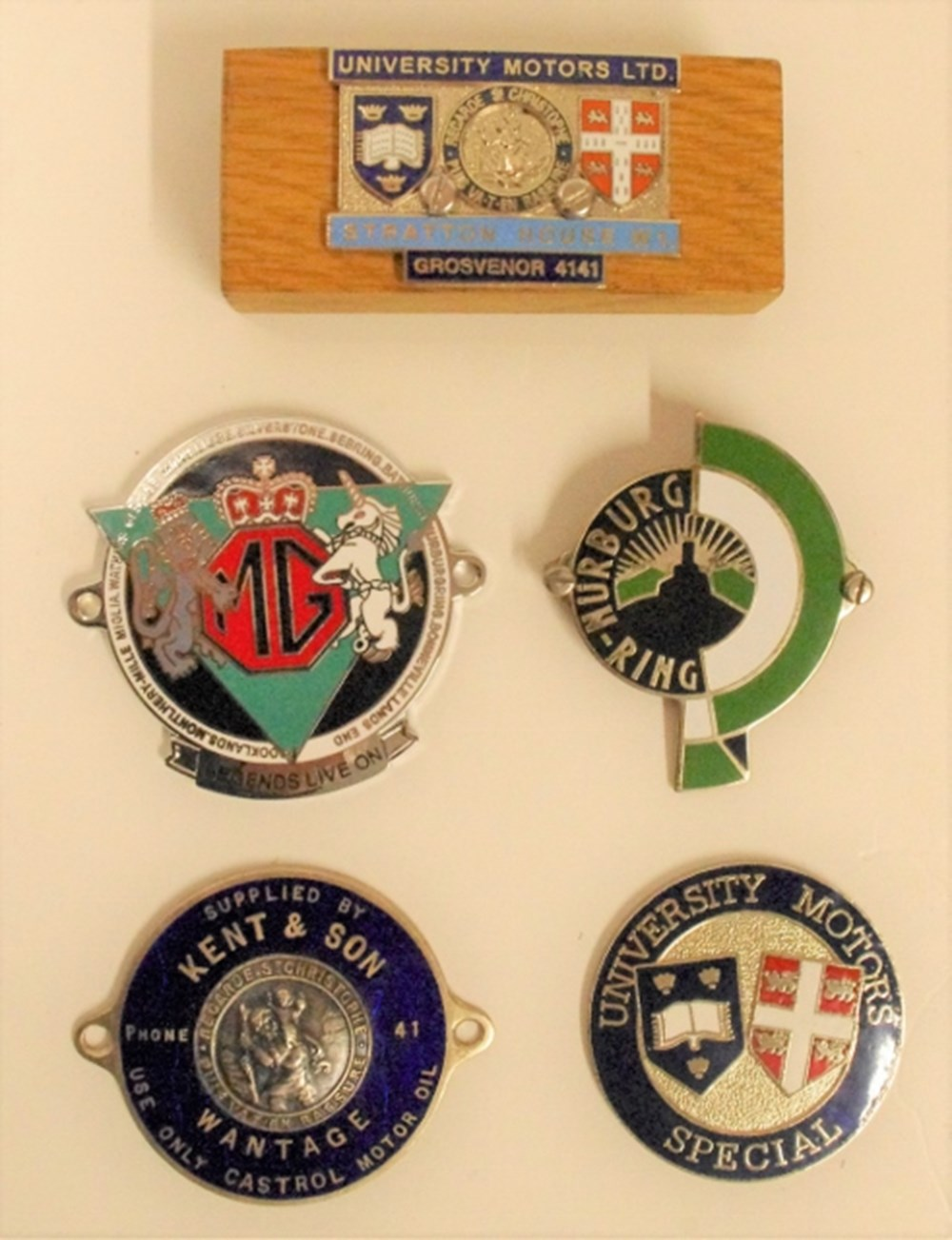 Lot 31. - Dashboard plaques.