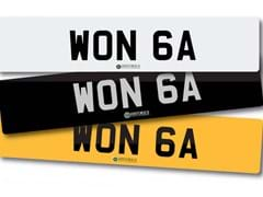 Navigate to Lot 214 -   Number Plate WON 6A