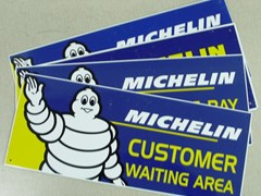 Navigate to Four aluminium Michelin tyre signs
