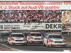 Navigate to Framed picture of 1990 German touring car Audi race team