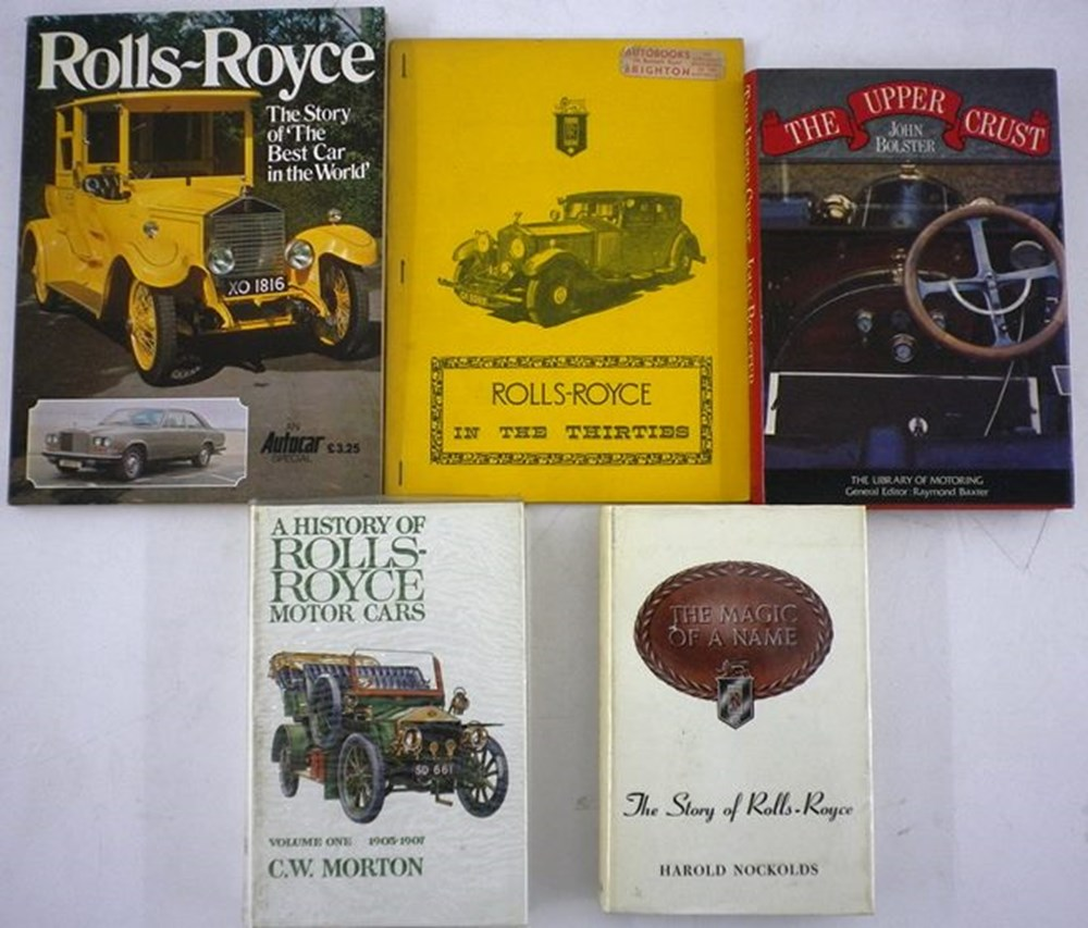 Lot 074 - Five Rolls-Royce books