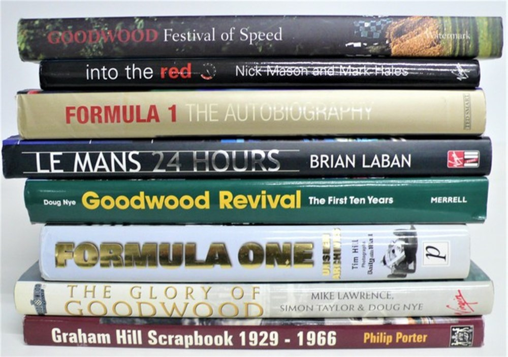 Lot 013 - Motor sport books.