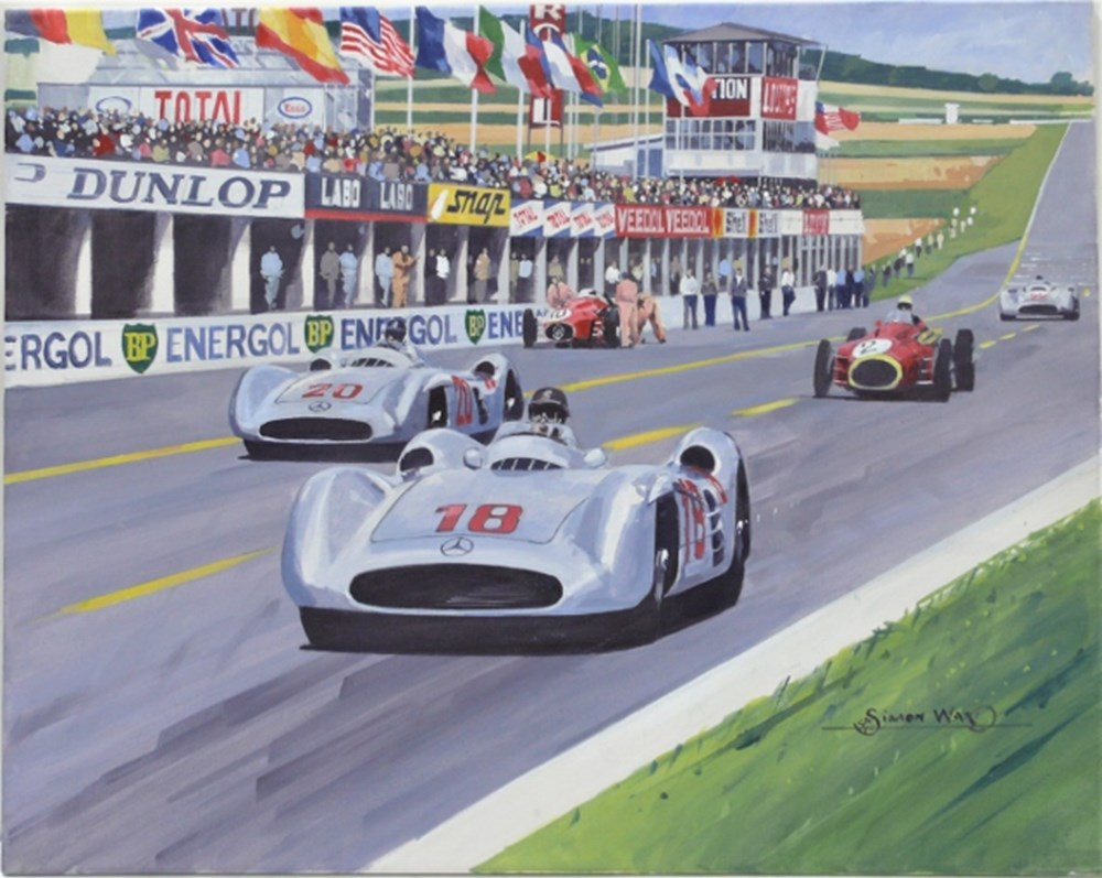 Lot 78 - Fangio original painting.
