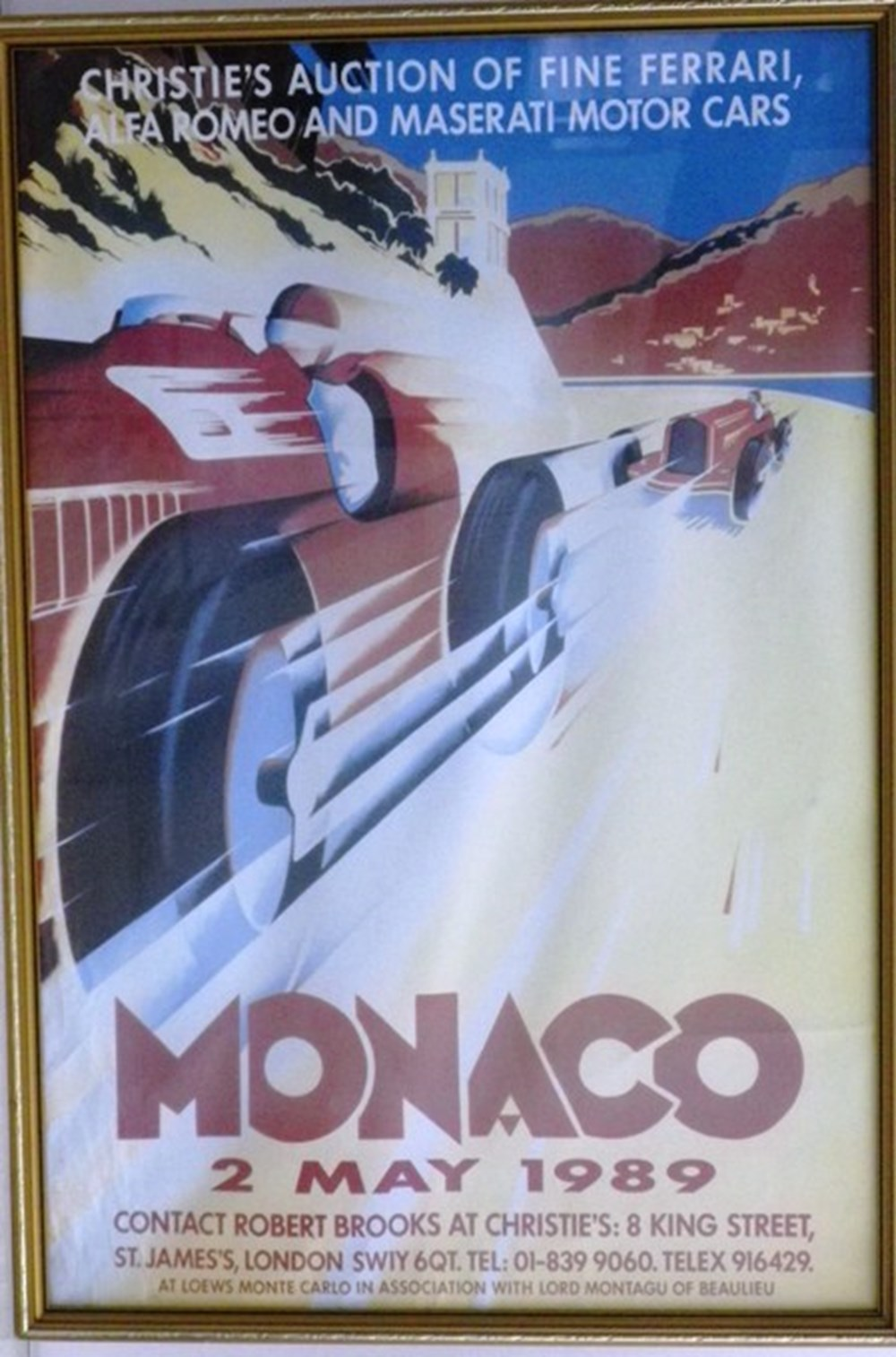 Lot 24 - Christie's Monaco auction posters