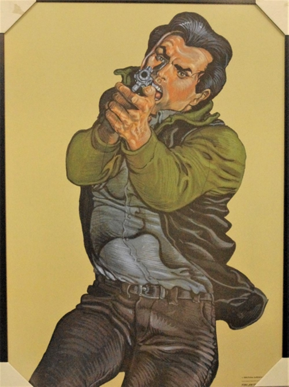 Lot 34. - Target practice poster,