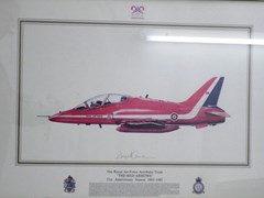 Navigate to The Red Arrows' anniversary print.