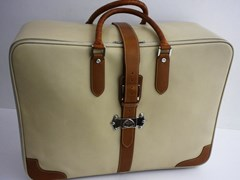 Navigate to Dunhill calf leather suitcase