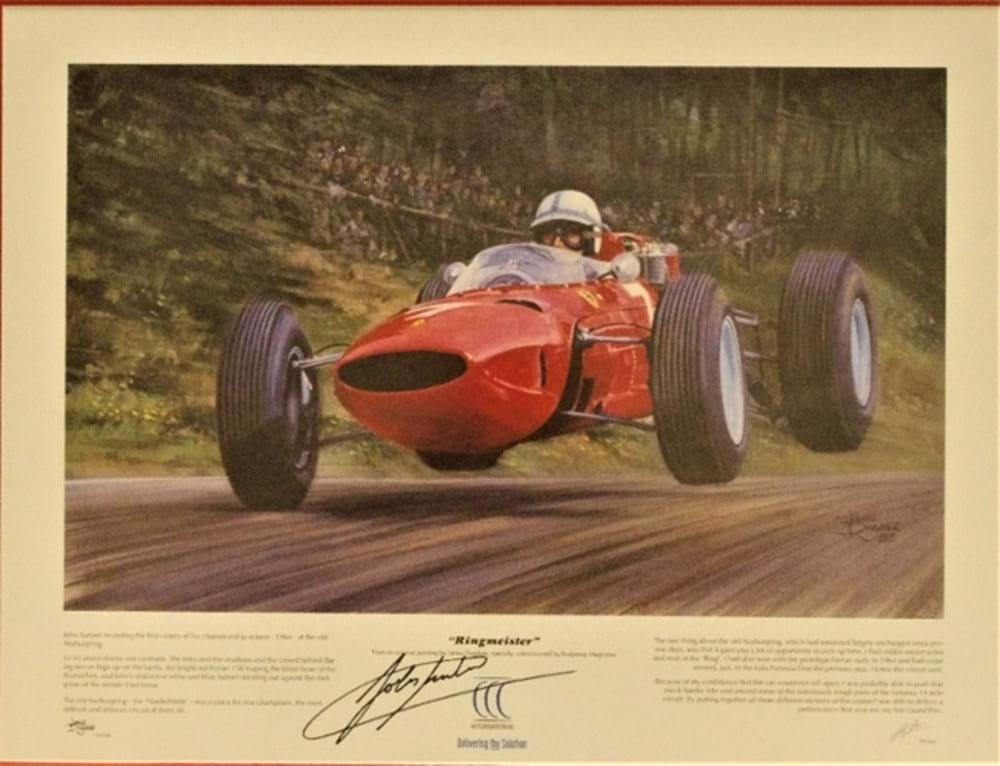 Lot 54. - John Surtees print.