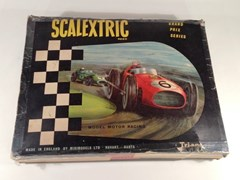 Navigate to 1963 Scalextric slot car race set
