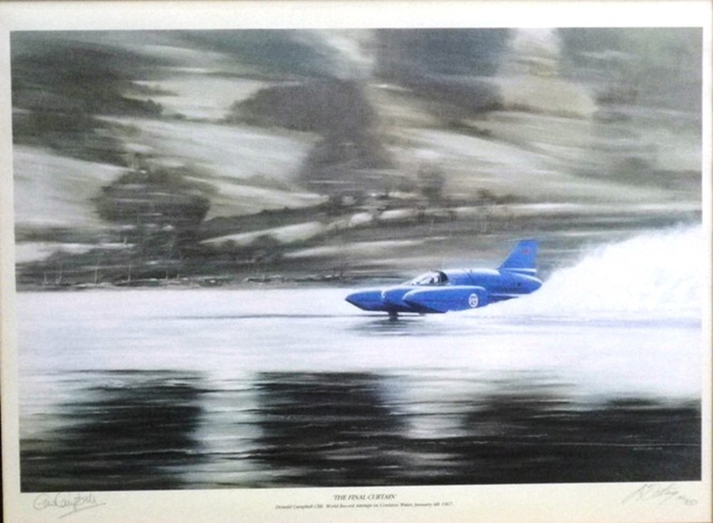 Lot 61 - Water and land speed record prints.