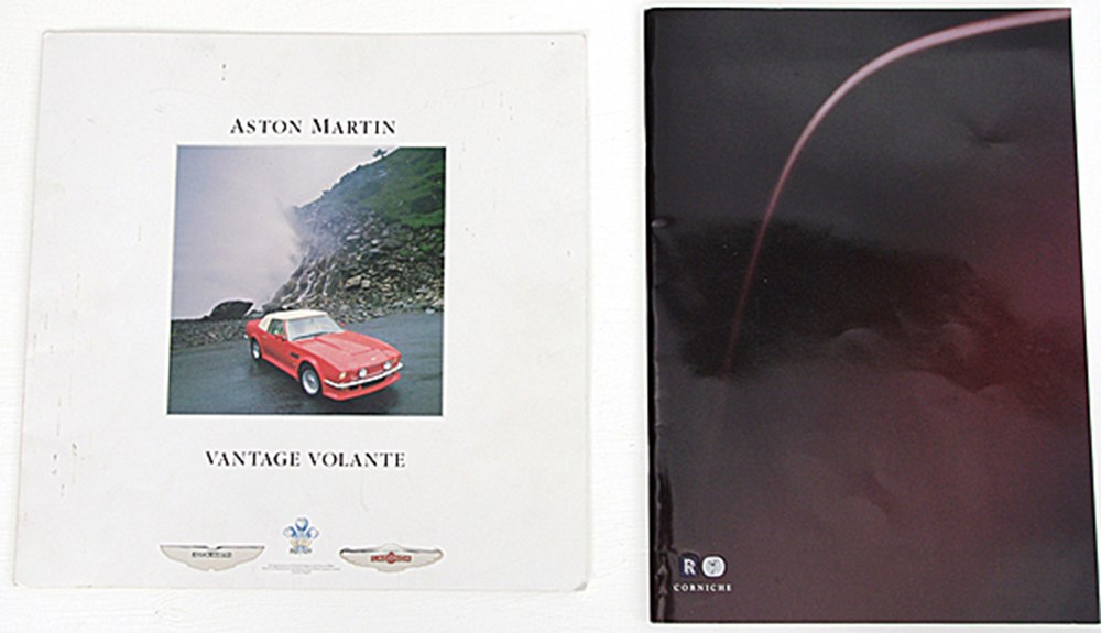 Lot 106 - Two prestige car brochures