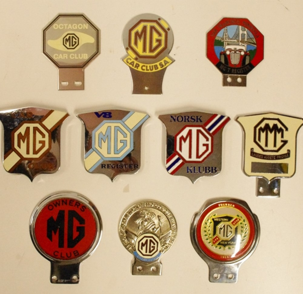 Lot 46. - MG badges.