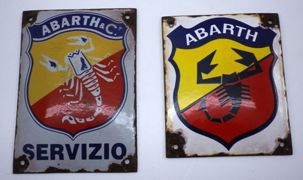 Lot 18 - Abarth wall plaques