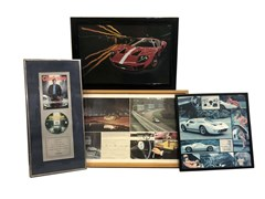 Navigate to Three Ford GT 40 framed photos ...