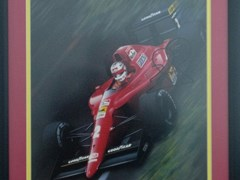 Navigate to A signed Nigel Mansell print.