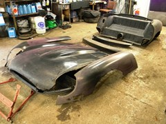 Navigate to Lot 351 - 1960 Jaguar 1960's E-Type Bonnet and Rear Tub
