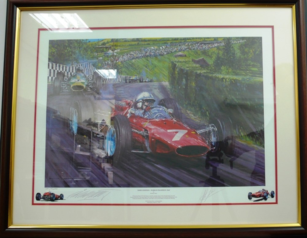 Lot 125 - John Surtees/Ferrari print