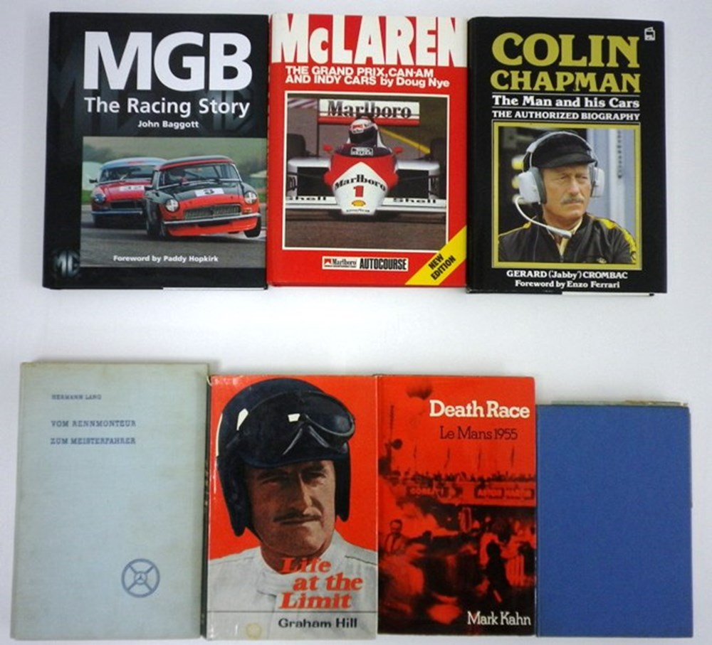 Lot 76 - 16 motoring related books