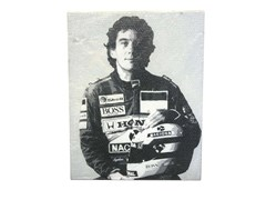 Navigate to A canvas print of the late Ayrton Senna  *WITHDRAWN*