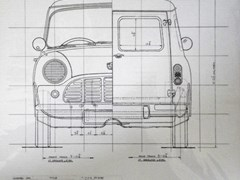Navigate to 1960s Austin Mini-Van limited edition line drawing prints