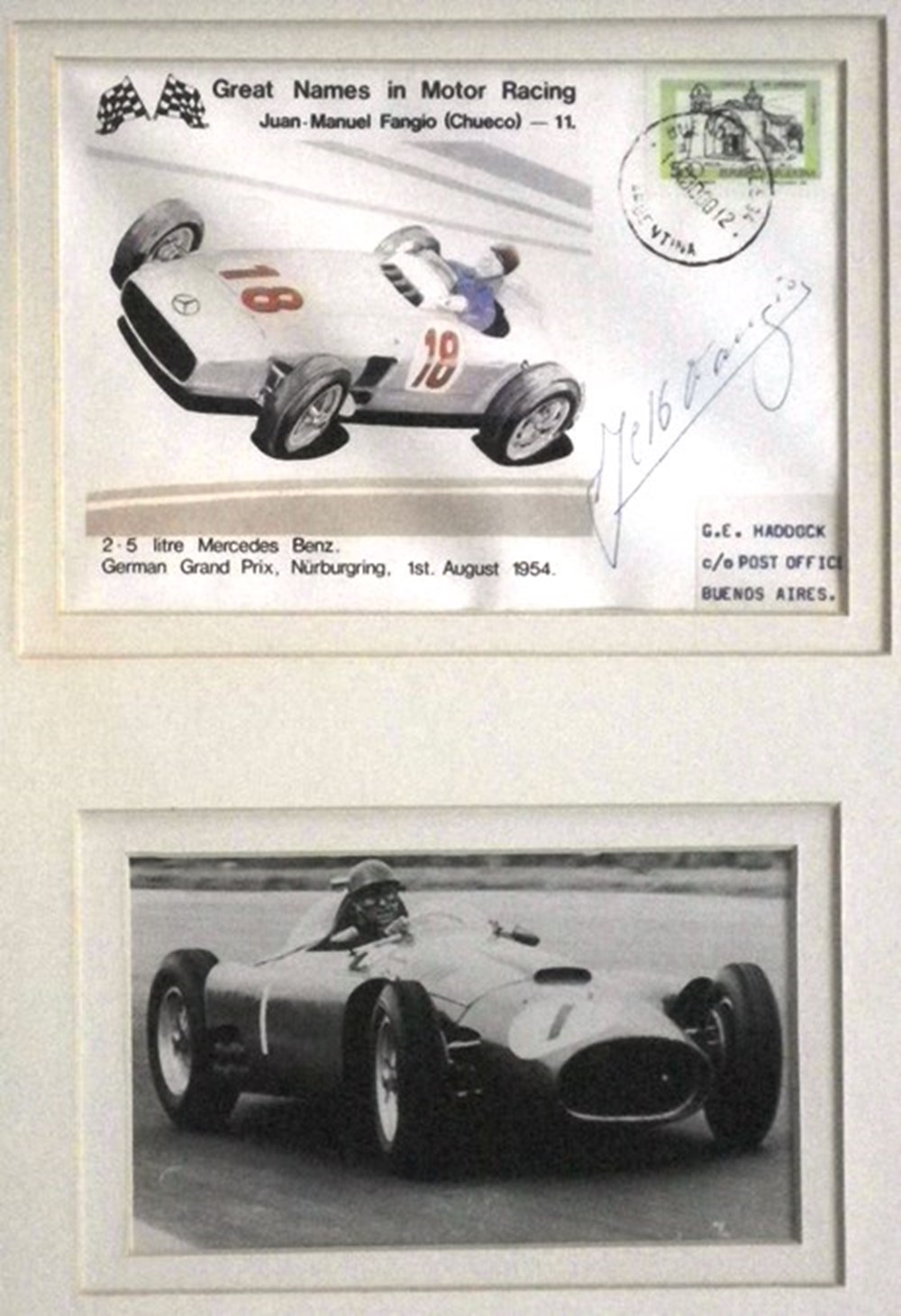 Lot 105 - Signed Fangio Print