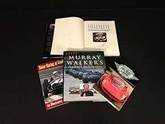 Navigate to Four signed motorsport books