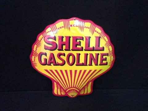Shell enamel sign