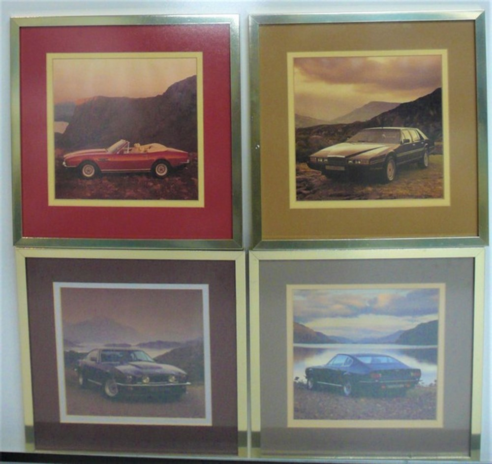 Lot 010 - Aston Martin prints.