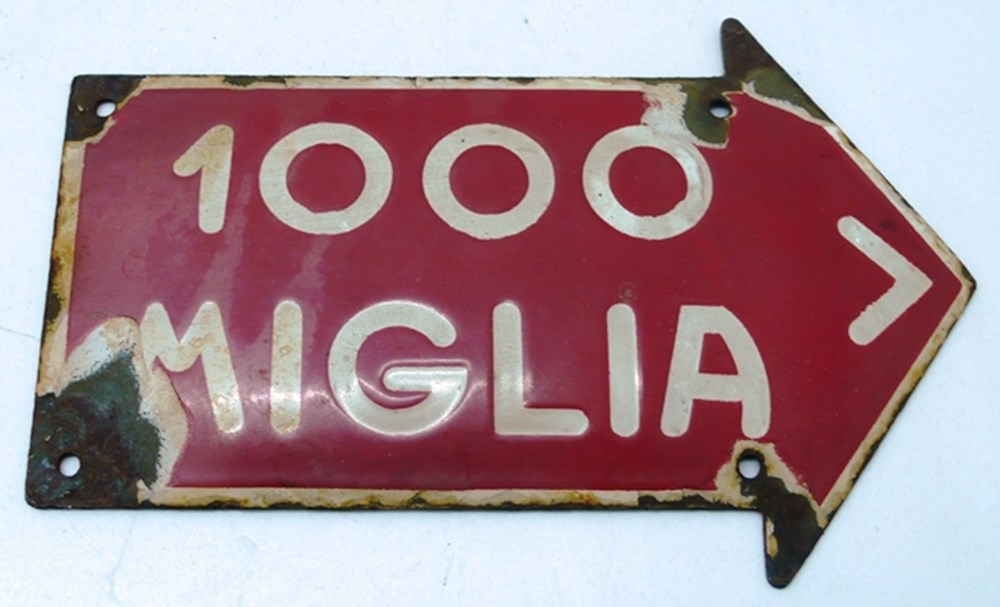 Lot 096 - Mille Miglia route marker