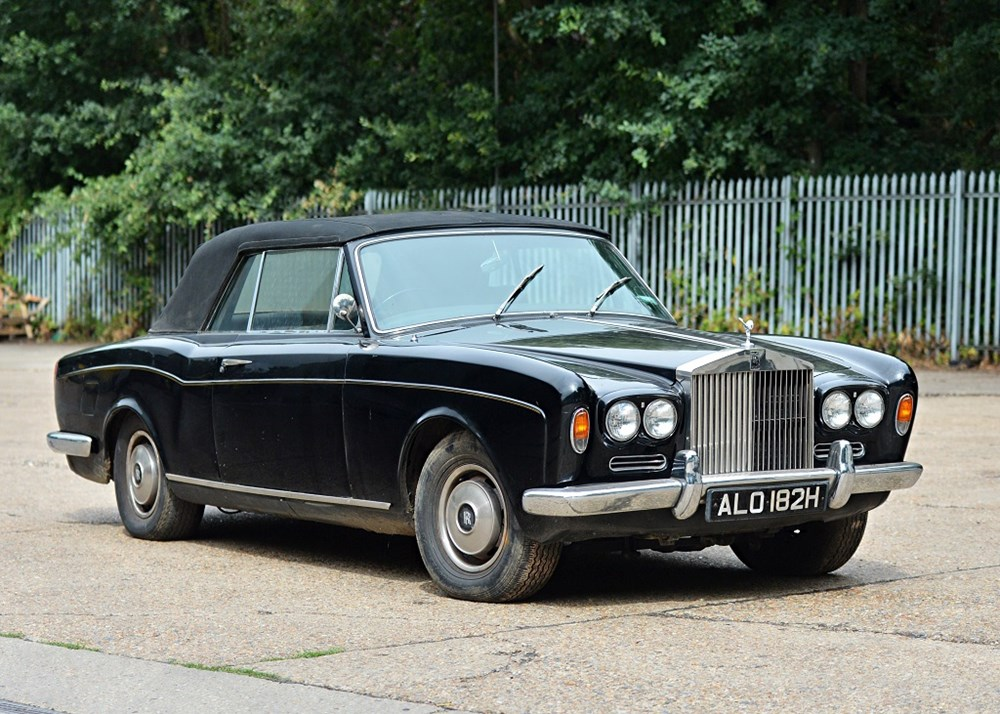 Lot 218 - 1968 Rolls-Royce Silver Shadow Convertible by Mulliner Park Ward