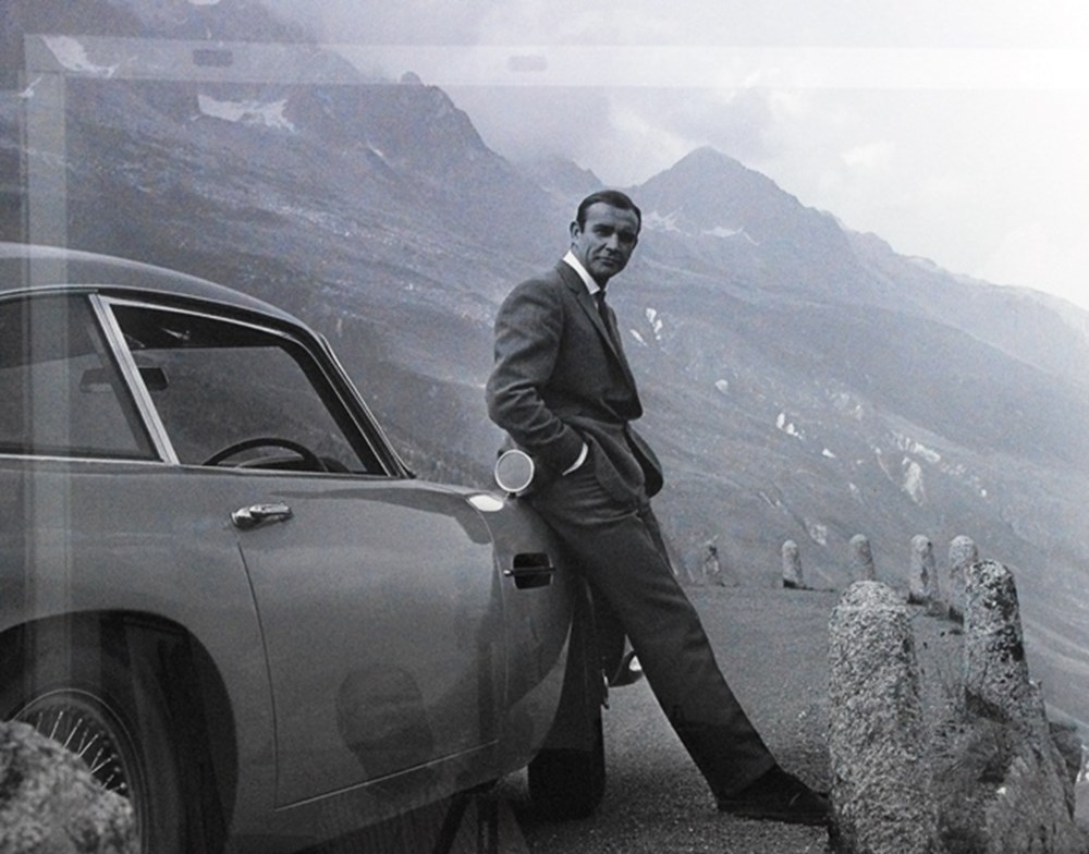 Lot 126 - Aston Martin DB5 and Sean Connery Print