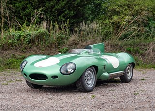 HOMAGE TO JAGUAR D-TYPE IS SPRINKLED WITH STARDUST