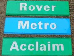Navigate to A selection of showroom signs ...