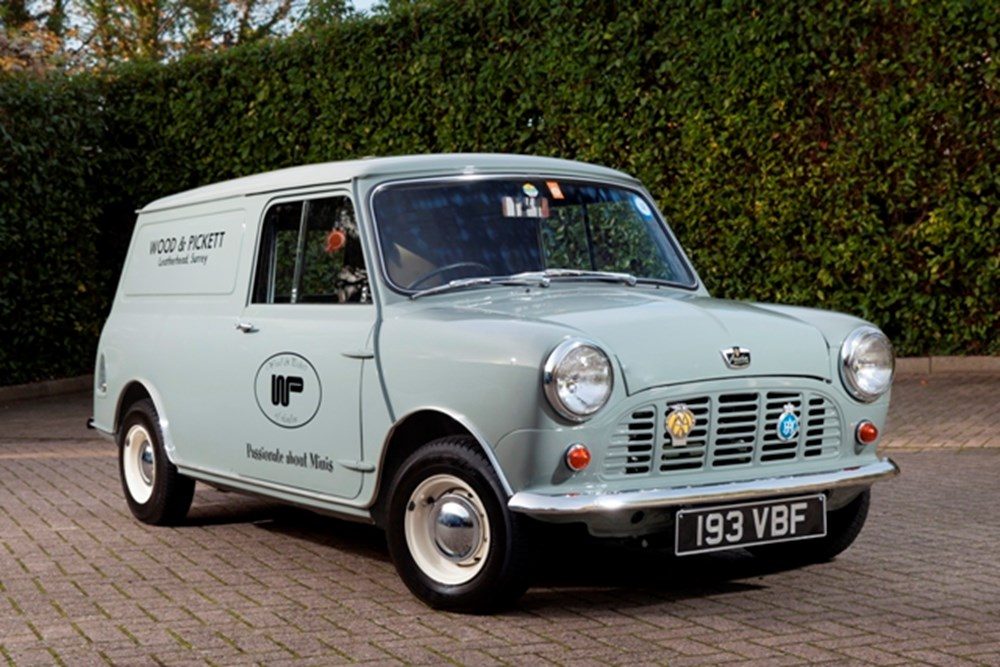 Lot 256 - 1963 Austin Mini Van (Wood & Pickett Delivery)