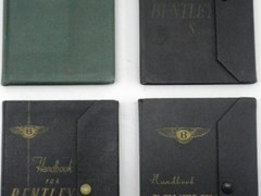 Navigate to Four original Bentley driver's hand-books.