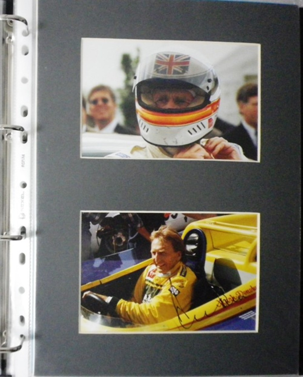 Lot 77 - Signed photos of racing drivers