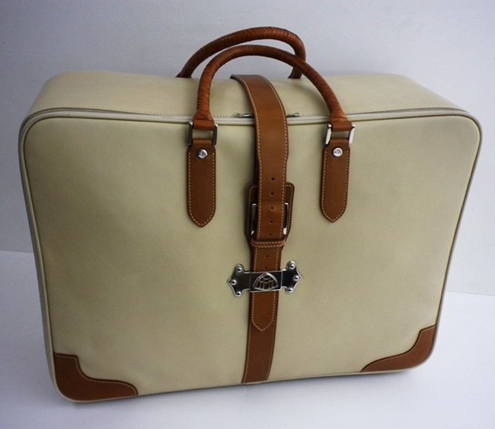 Lot 110 - Dunhill calf leather suitcase