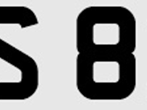 Ref 140 Number plate CAS821A