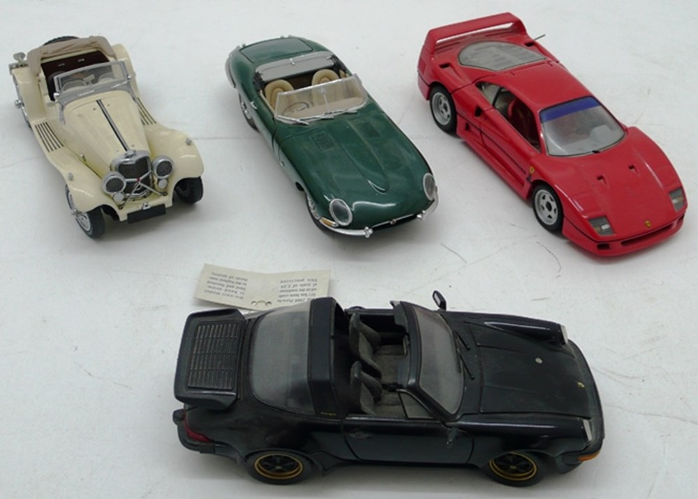 Lot 018 - Four Franklin Mint model cars