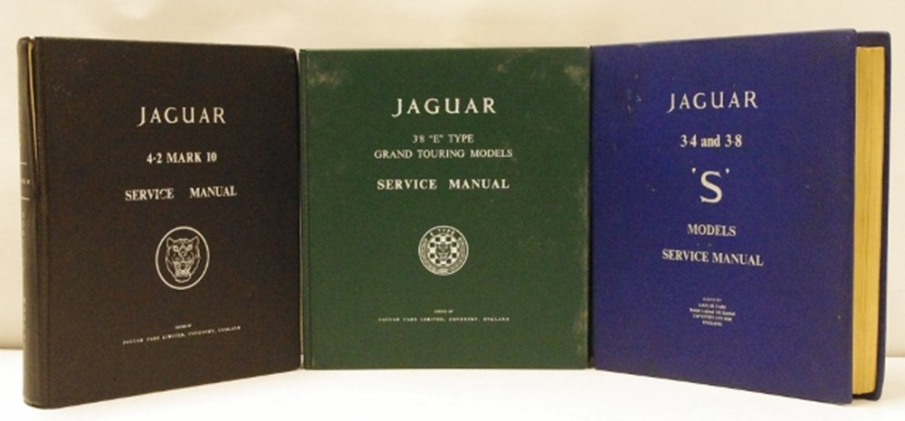 Lot 7. - Jaguar workshop manuals.