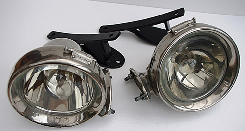 Lot 044 - CAV side lamps